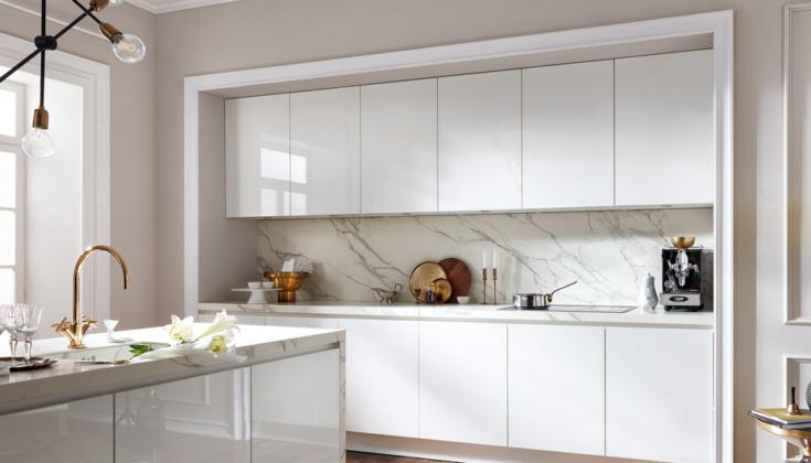 Küche Grifflos Weiß Matt