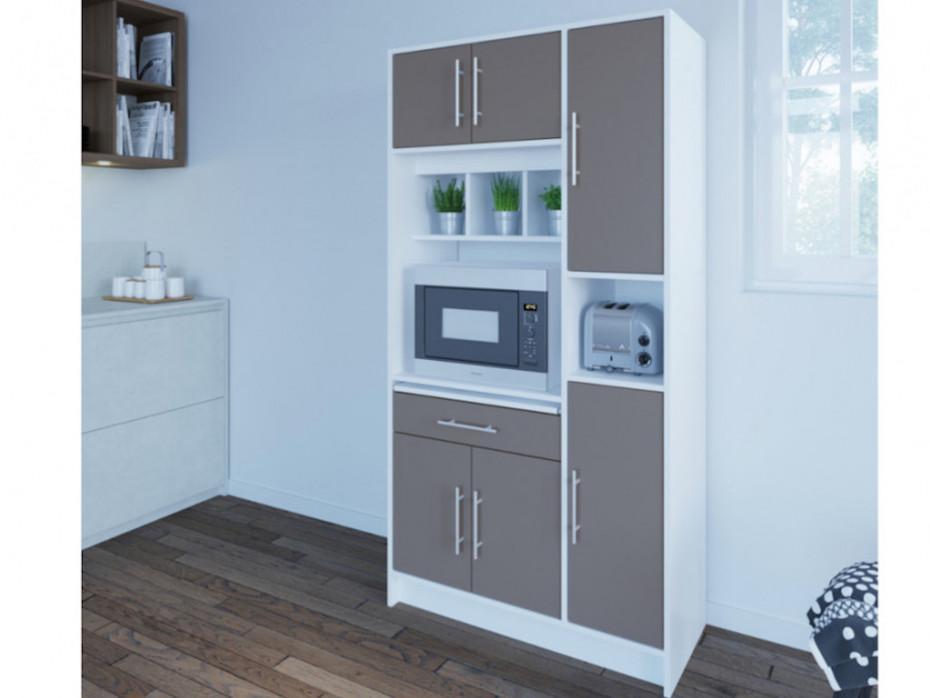 Küche Holzoptik Grau