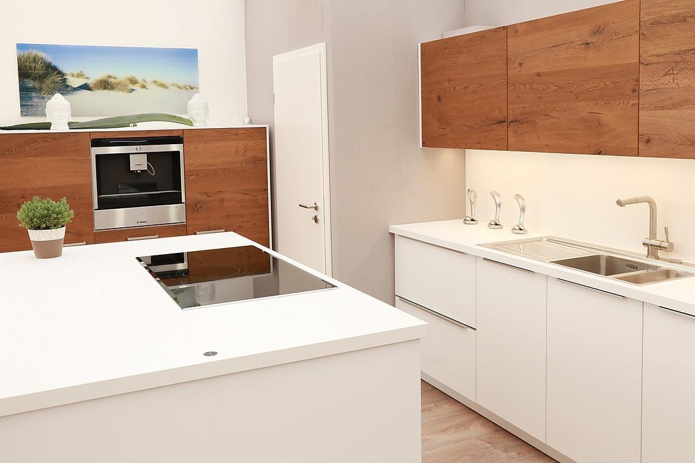 Küche Holzoptik Weiß