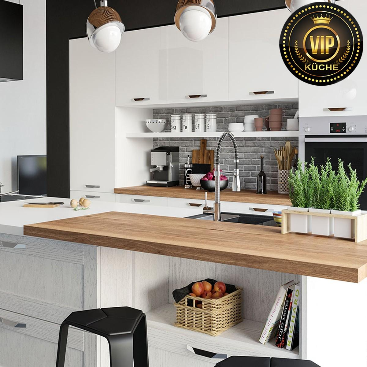 Küche Mit Tresen L Form