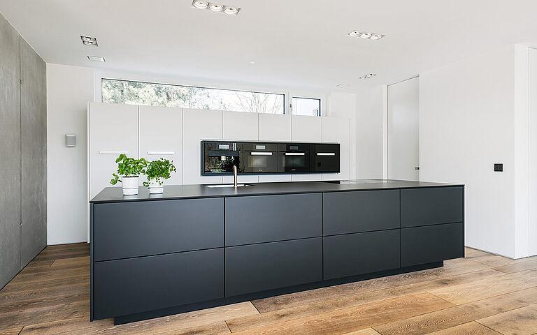 Küche Schwarz Weiß Grau