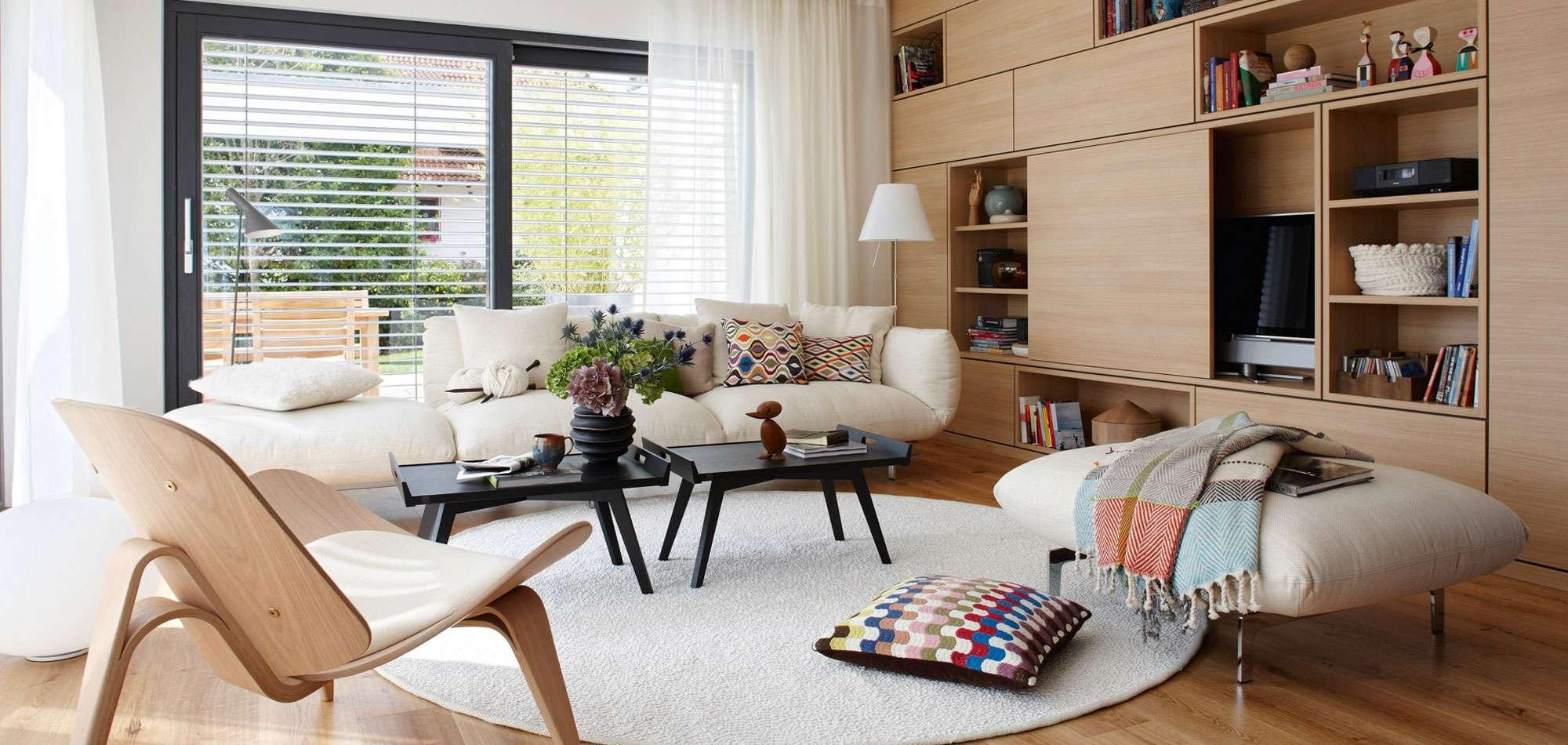 Küche Und Wohnzimmer In Einem Kleinen Raum