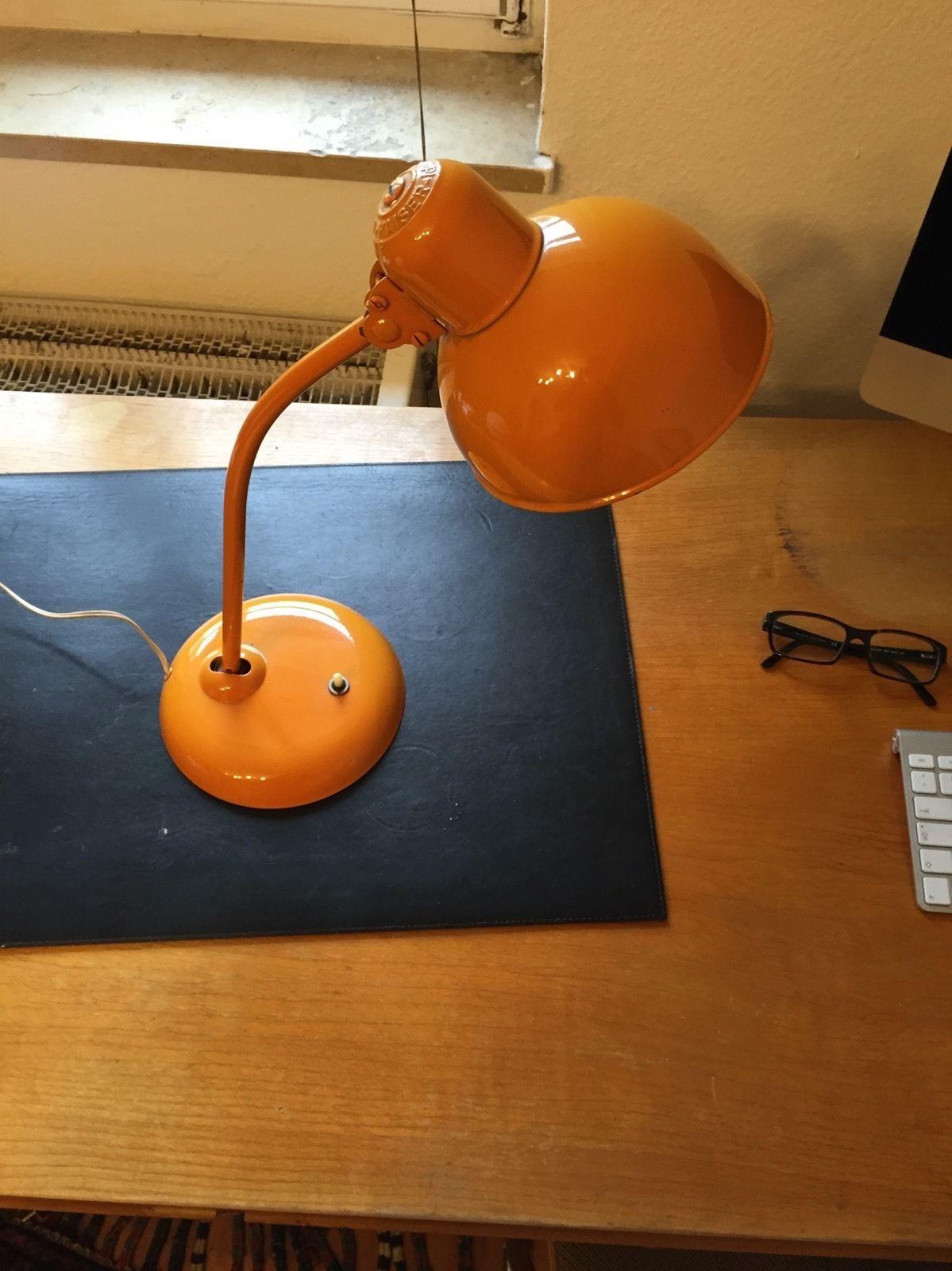 Kaiser Lampe 70er Orange