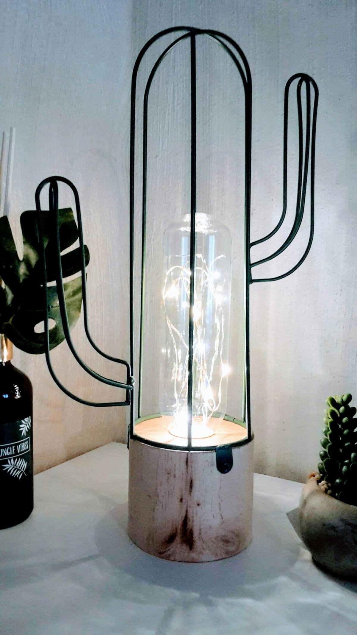 Kaktus Lampe Groß