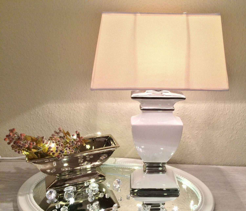 Keramik Lampe Weiß
