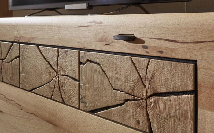 Kernbuche Wohnwand Massivholz