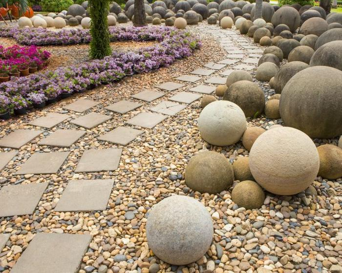 Kieselsteine Garten Anlegen