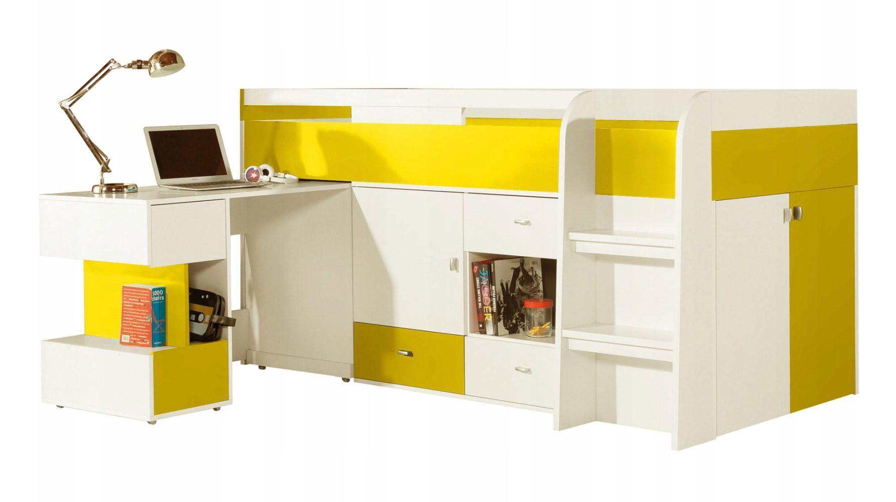 Kinderbett Hochbett Mit Schrank Und Schreibtisch