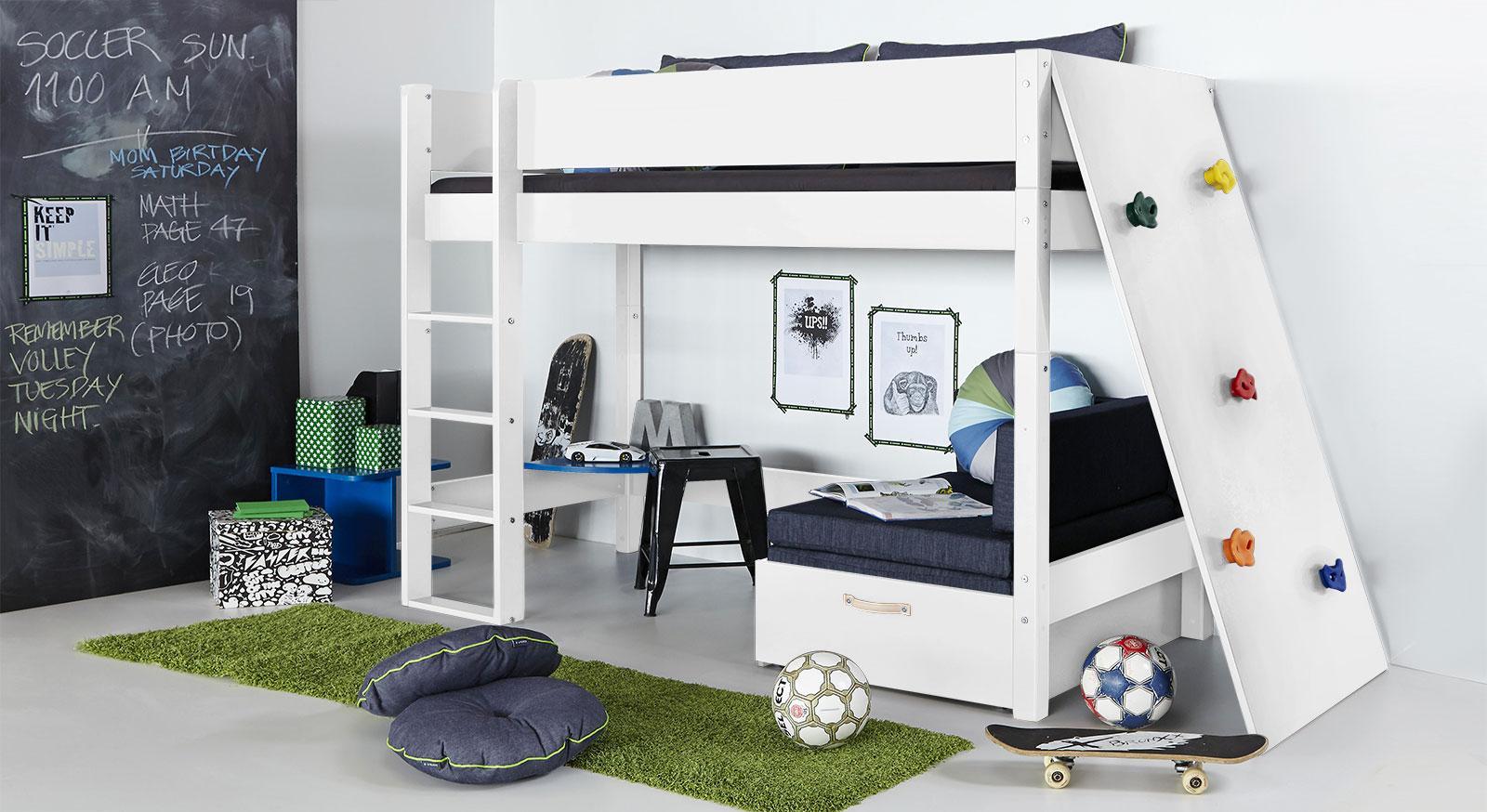 Kinderbett Mit Rutsche Und Schreibtisch