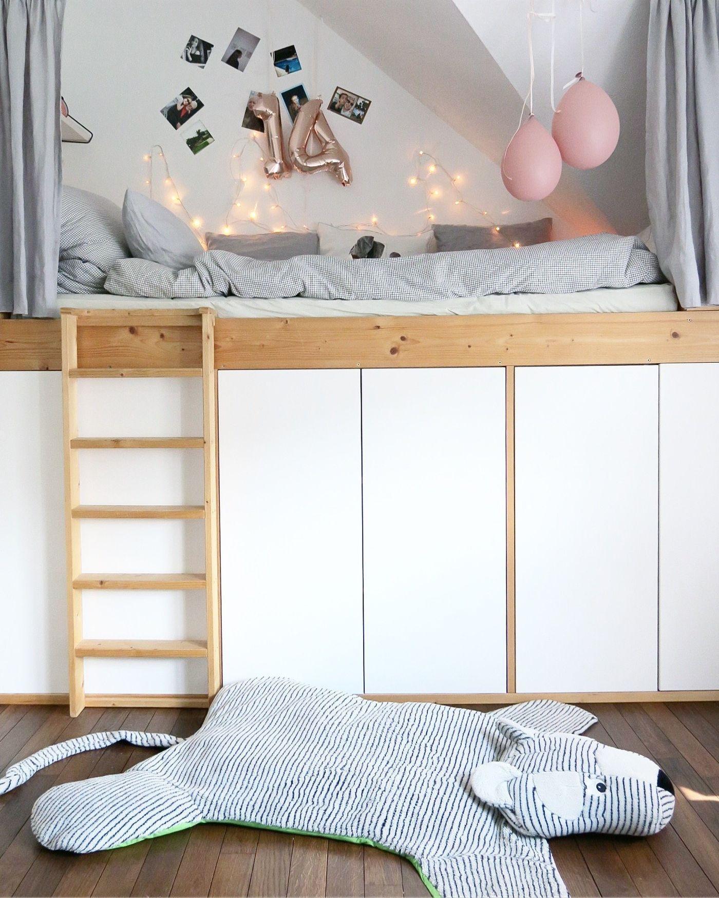Kinderhochbett Mit Treppe Und Schreibtisch