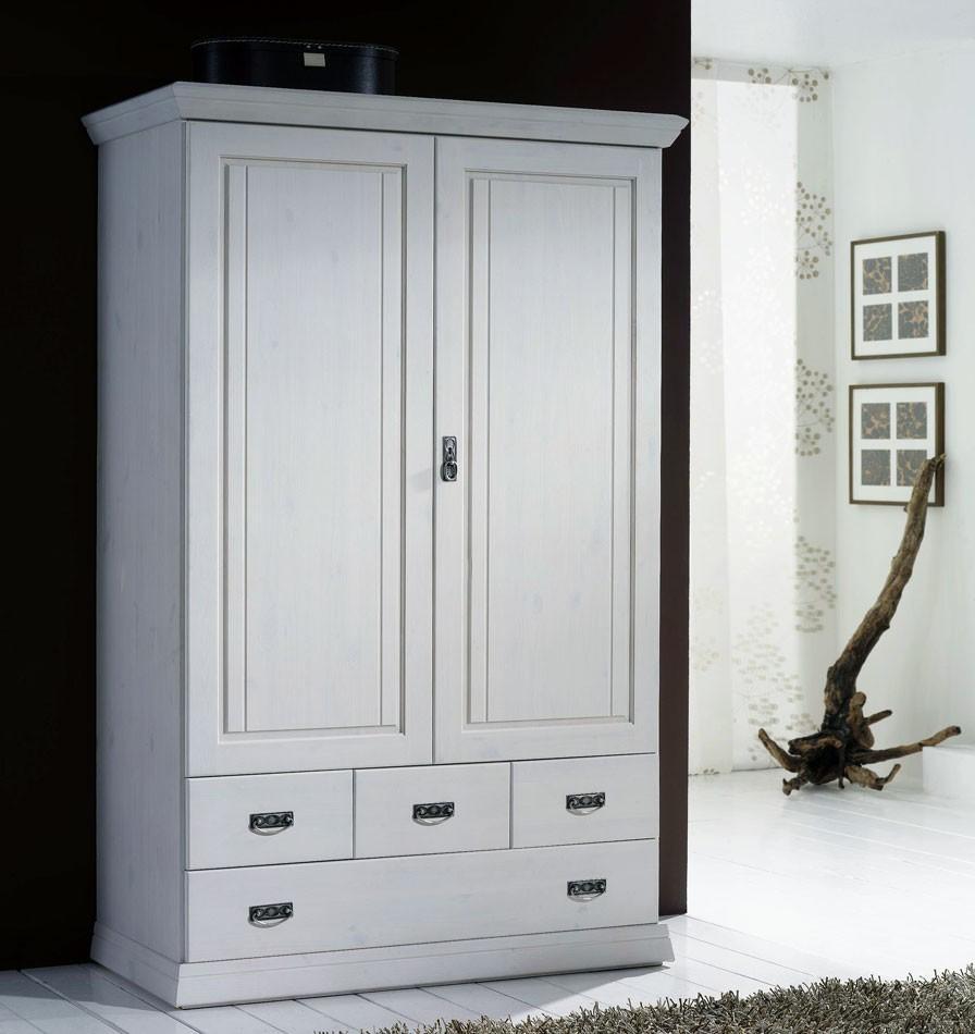 Kleiderschrank Echtholz Weiß