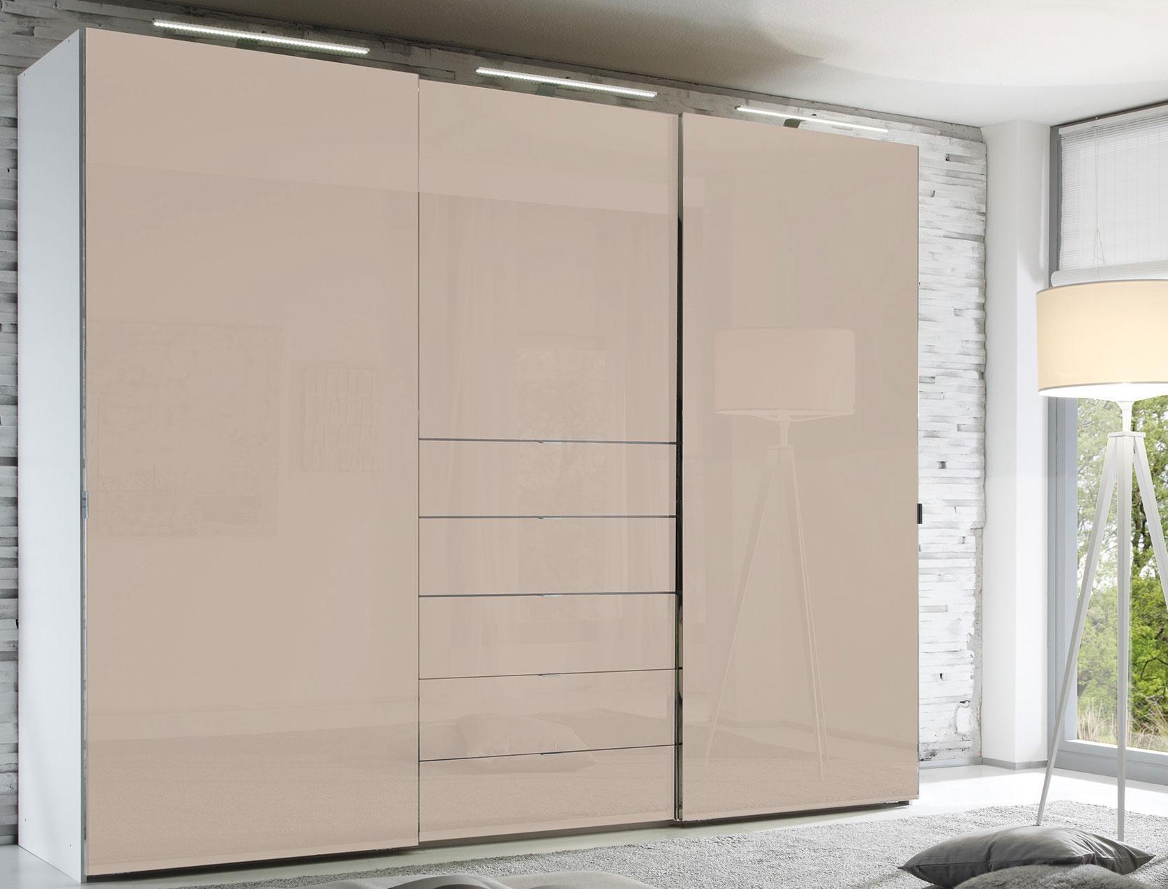 Kleiderschrank Grau Glas
