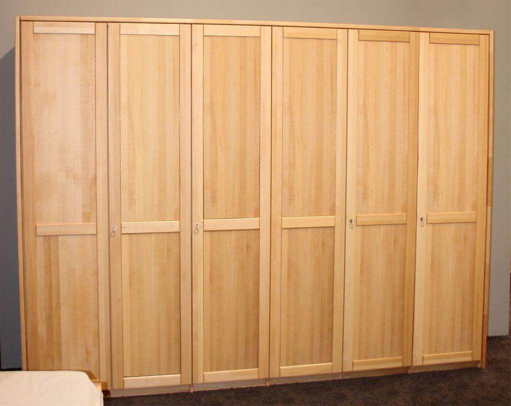Kleiderschrank Holz Natur
