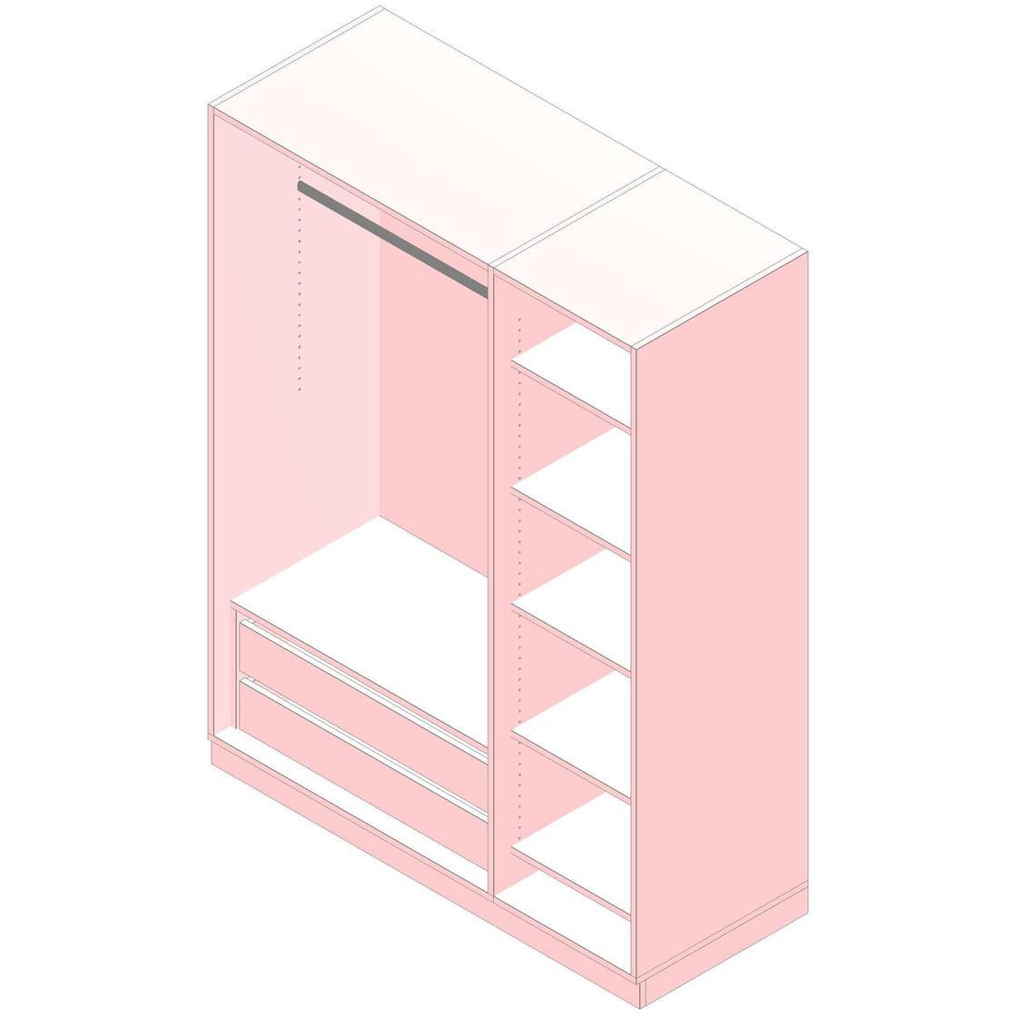 Kleiderschrank Mit Spiegel 150 Cm Breit