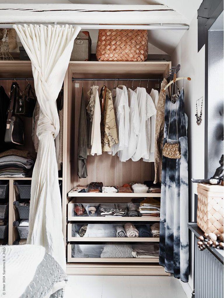 Kleiderschrank Mit Vorhang Pinterest