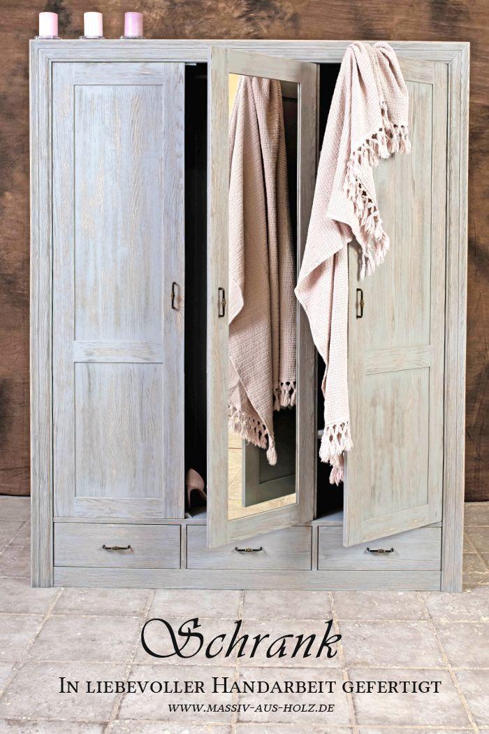 Kleiderschrank Modern Grau