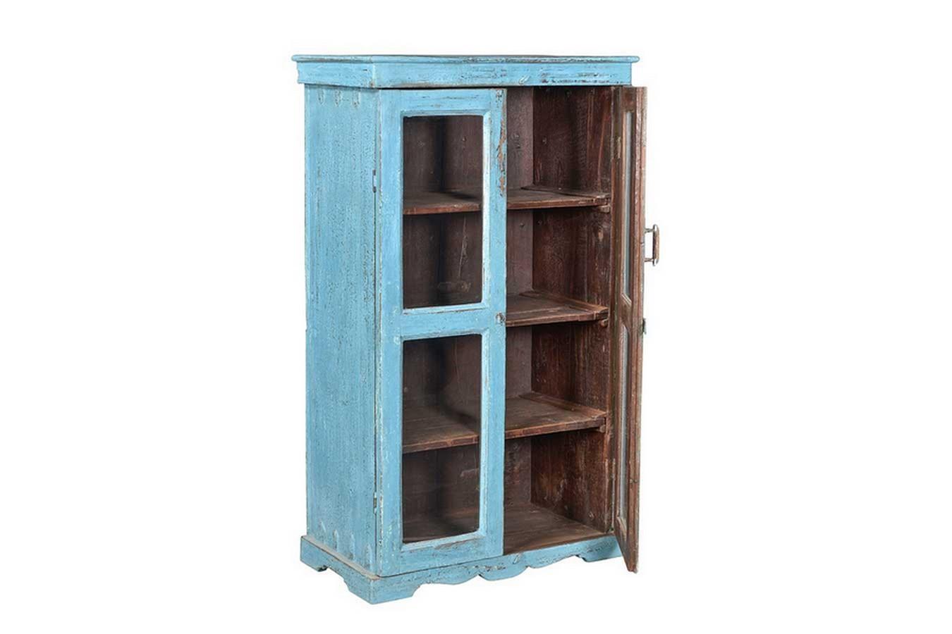 Kleiderschrank Vintage Blau