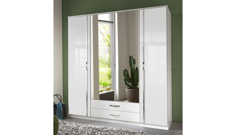 Kleiderschrank Weiß Hochglanz Mit Spiegel
