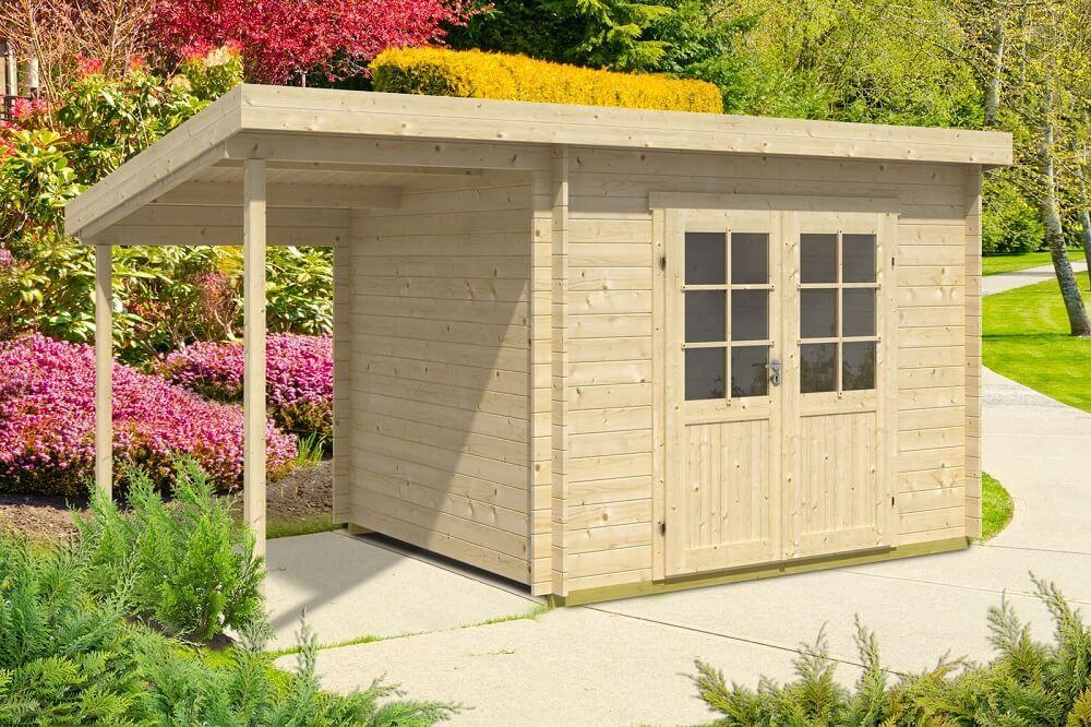 Klein Gartenhaus Holz Pultdach