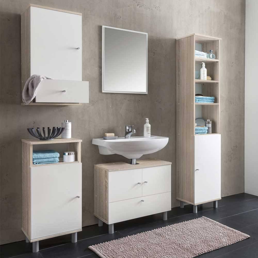 Kleiner Badschrank Weiß