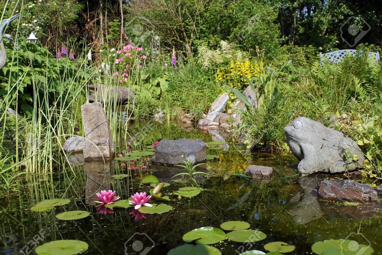 Kleiner Gartenteich Mit Wasserfall