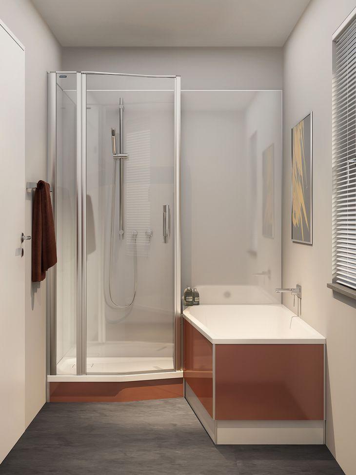 Kleines Badezimmer Mit Dusche Und Wanne