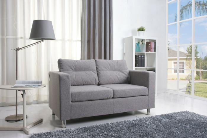 Kleines Sofa Grau