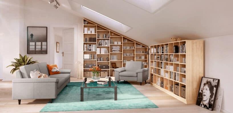 Kleines Wohnzimmer Mit Dachschräge