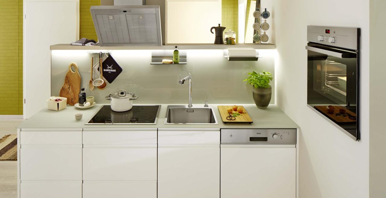 Kleines Wohnzimmer Mit Offener Küche Einrichten