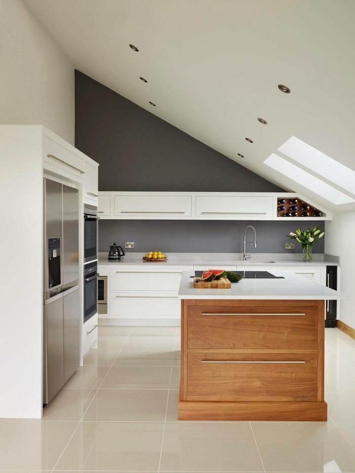 Kochinsel Küche Dachschräge