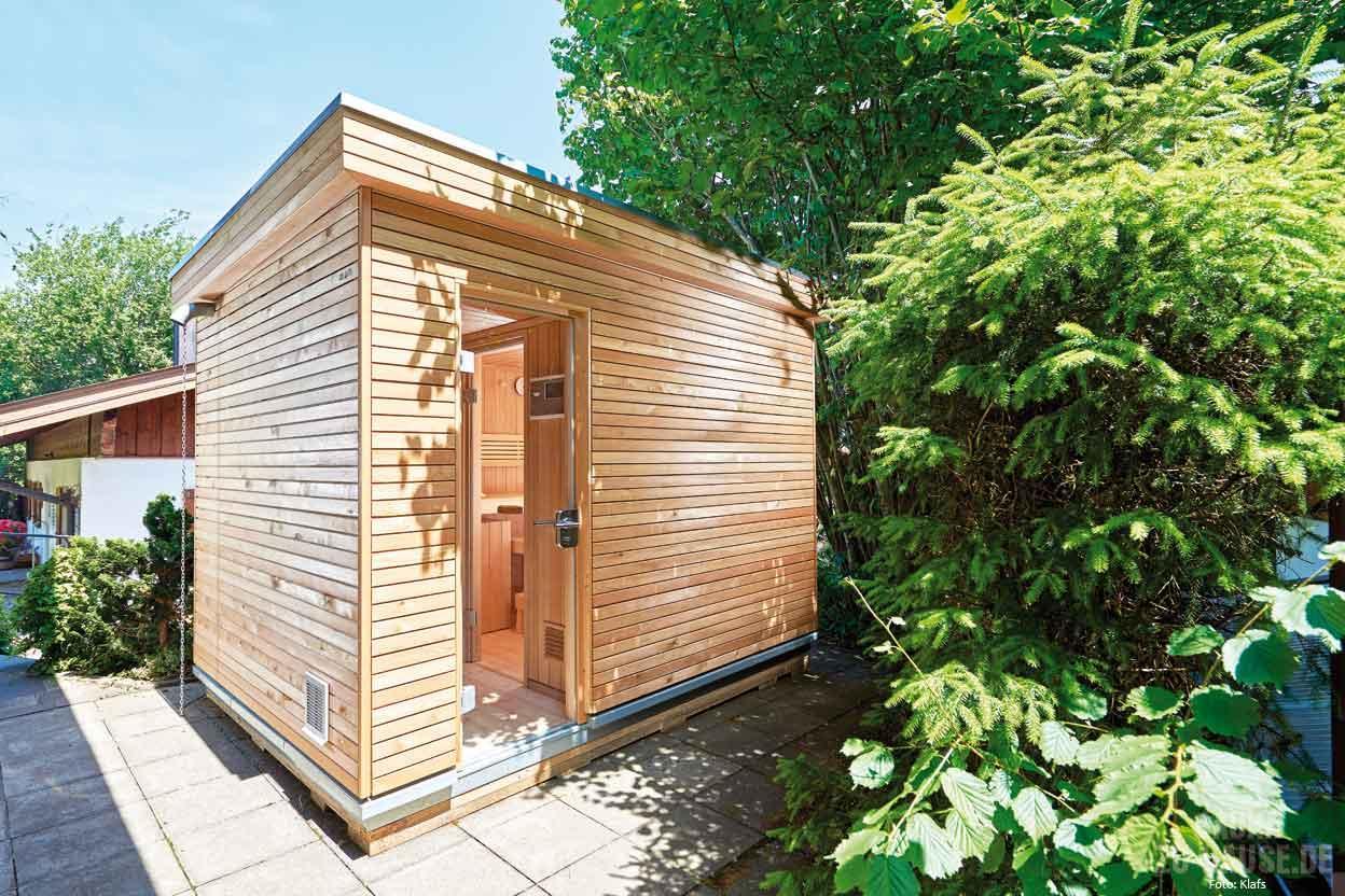 Kombination Sauna Gartenhaus