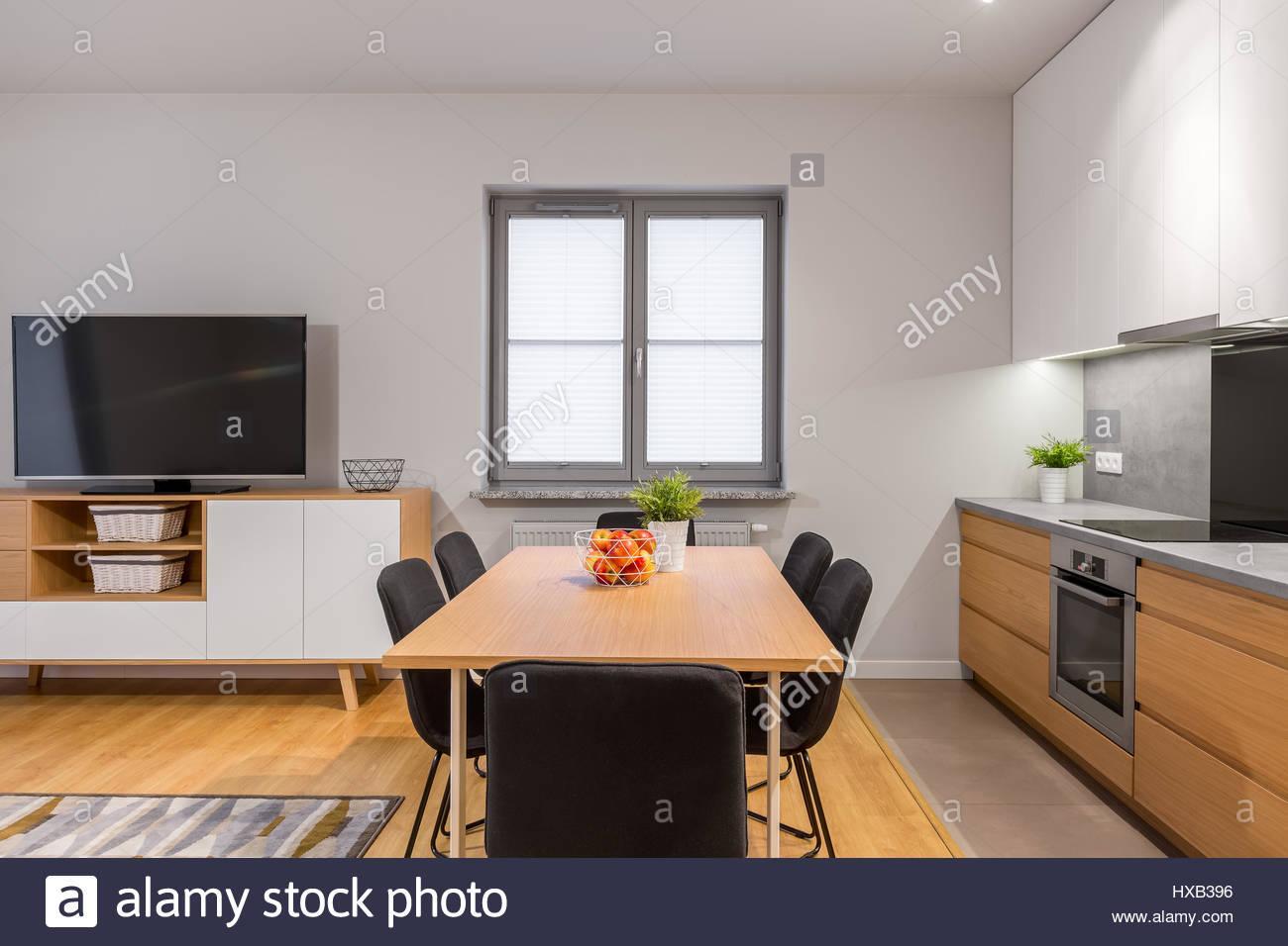 Küche Esszimmer In Einem Raum