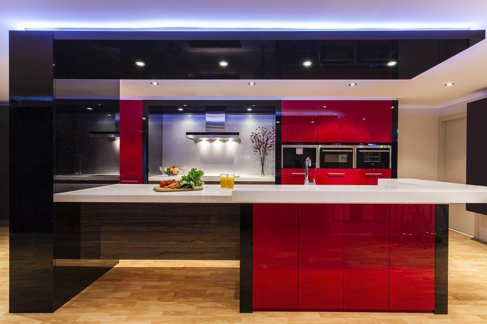 Küche Rot Schwarz