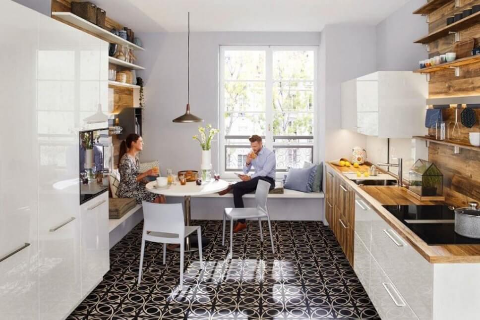Küche Sitzbank Fenster