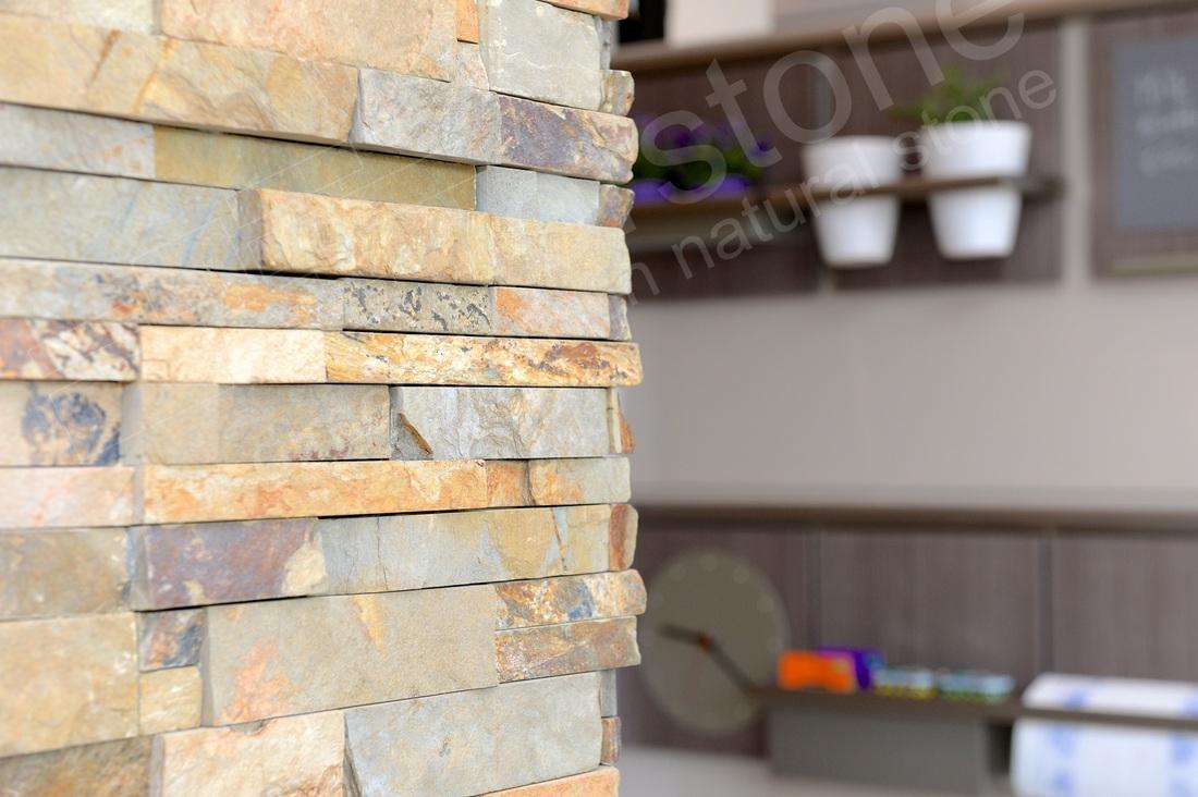Küche Wandverkleidung Stein