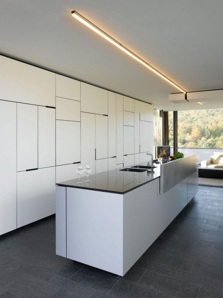 Küche Weiß Hochglanz Mit Kochinsel