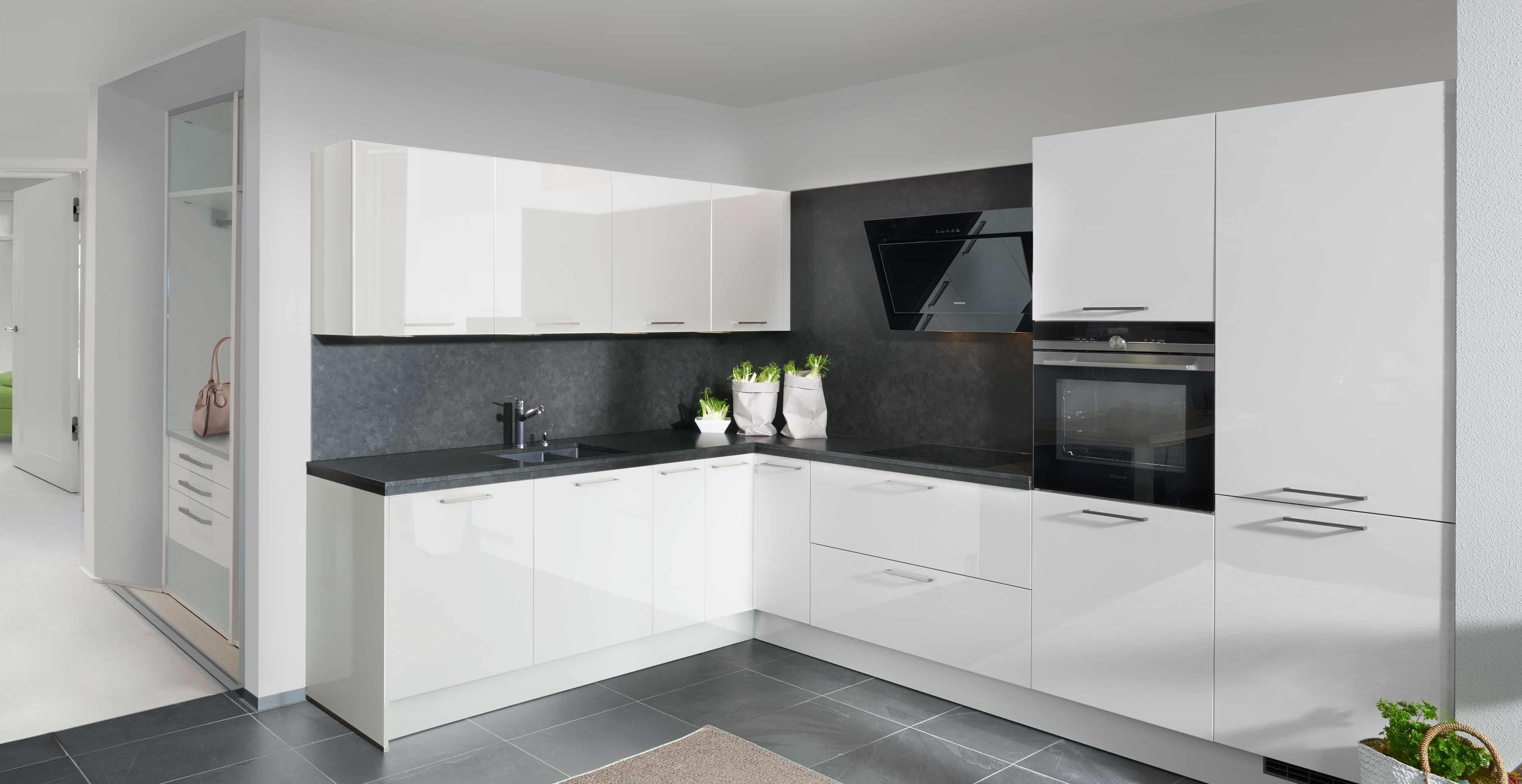 Küche Weiß Hochglanz U Form