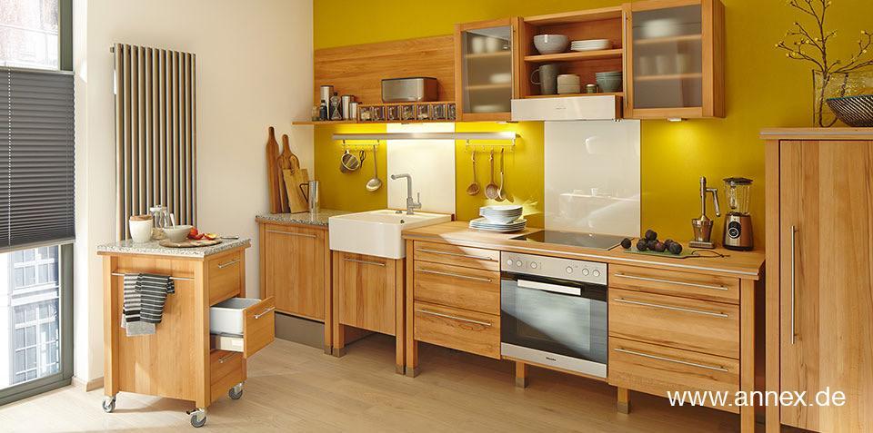 Küchenblock Freistehend Holz