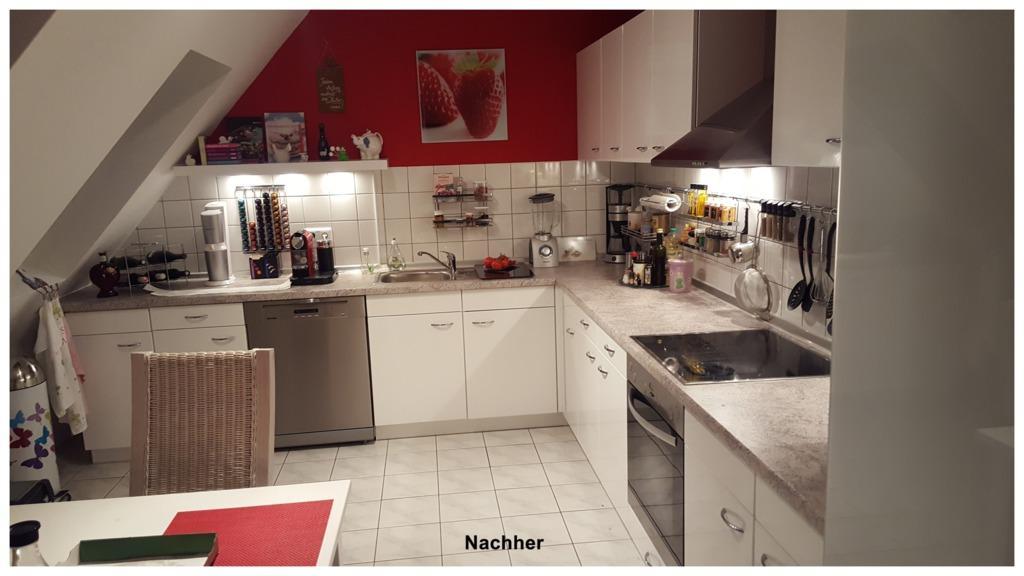 Küchenfolierung Vorher Nachher