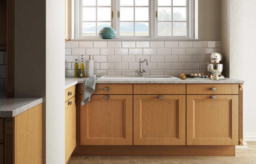 Küchenrückwand Holz Landhaus