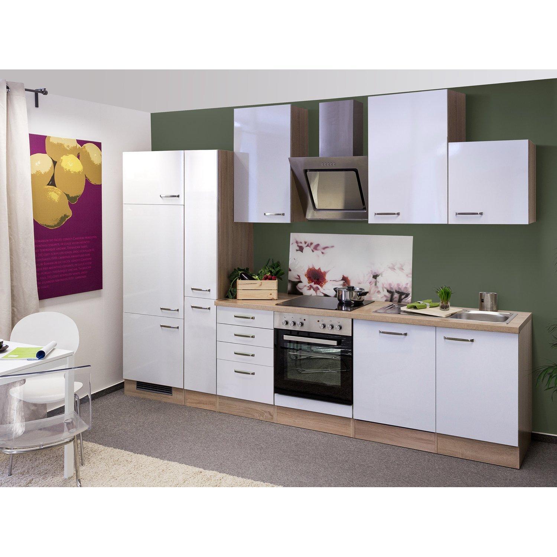 Küchenschrank Weiß Eiche