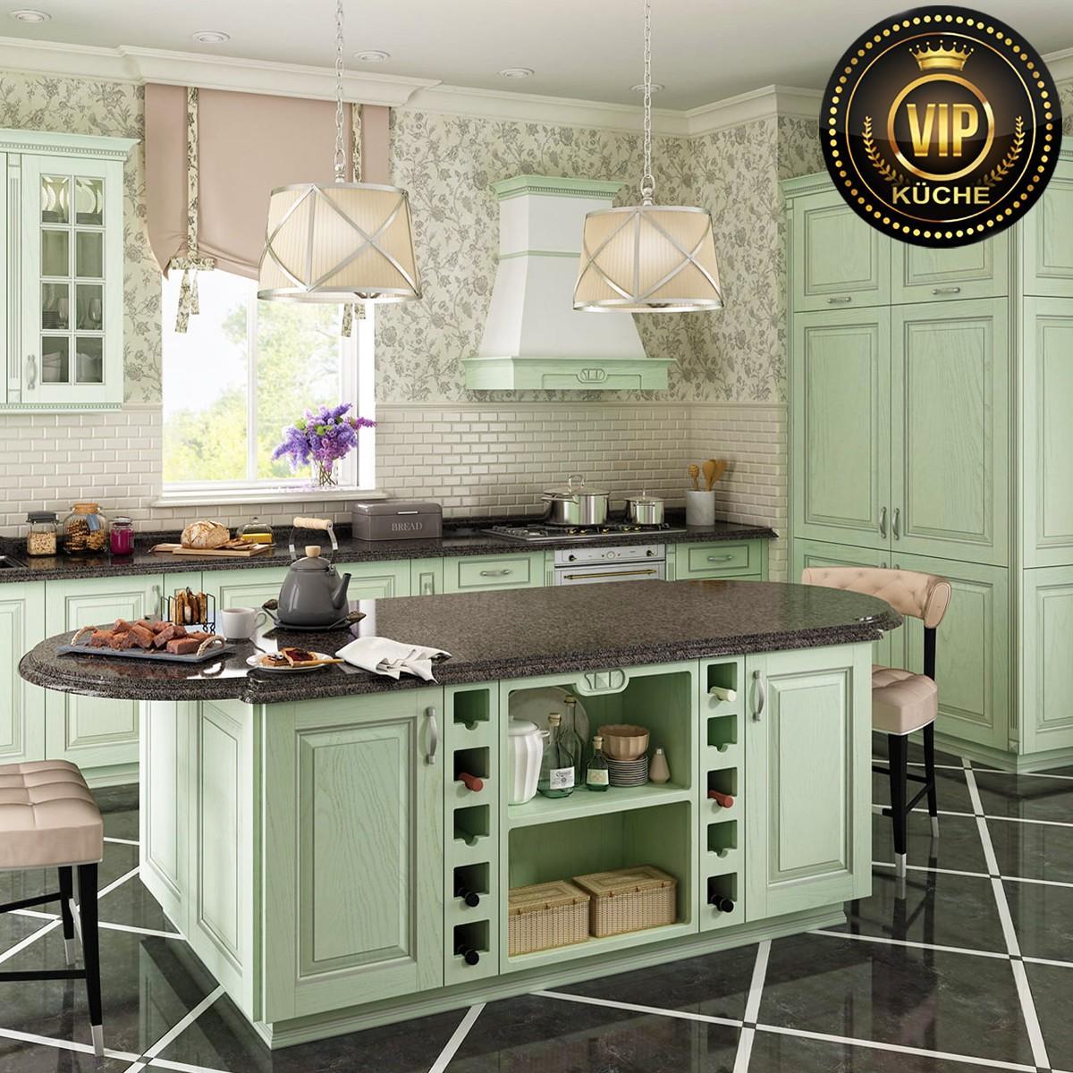 Küchenzeile Landhausstil Mit Elektrogeräten