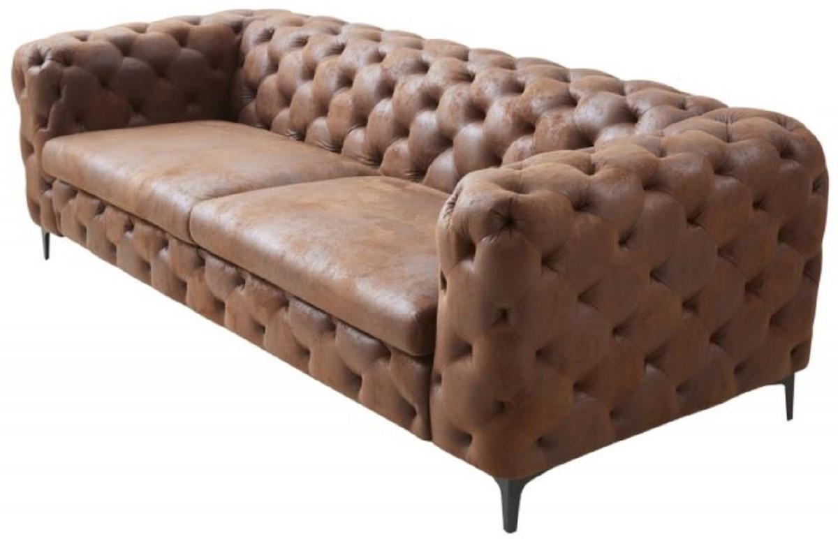 Kunstleder Couch Beige