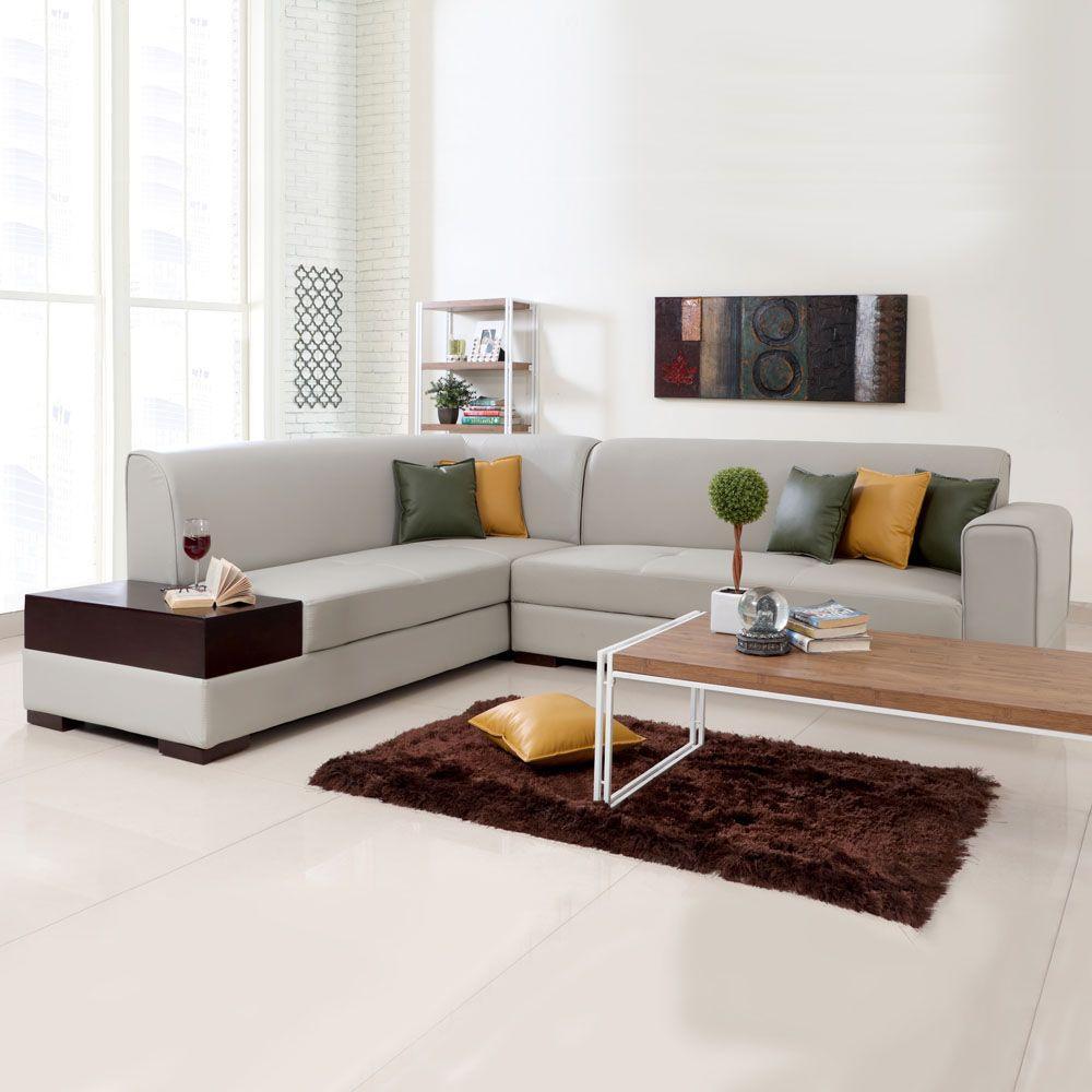 Kunstleder Couch L Form