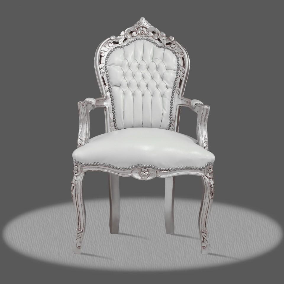 Kunstleder Stuhl Weiß