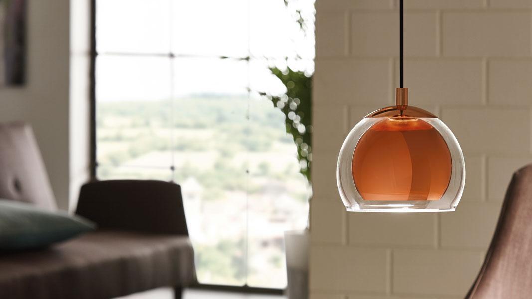 Kupfer Lampe Wohnzimmer
