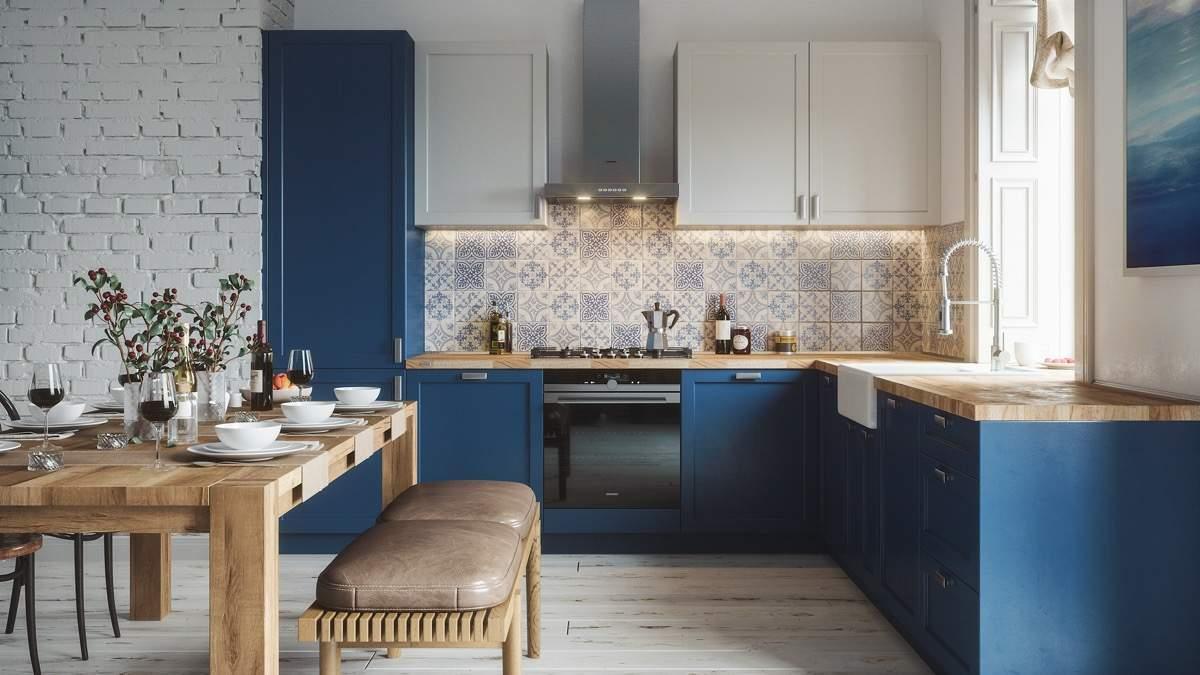 L Küche Mit Tresen