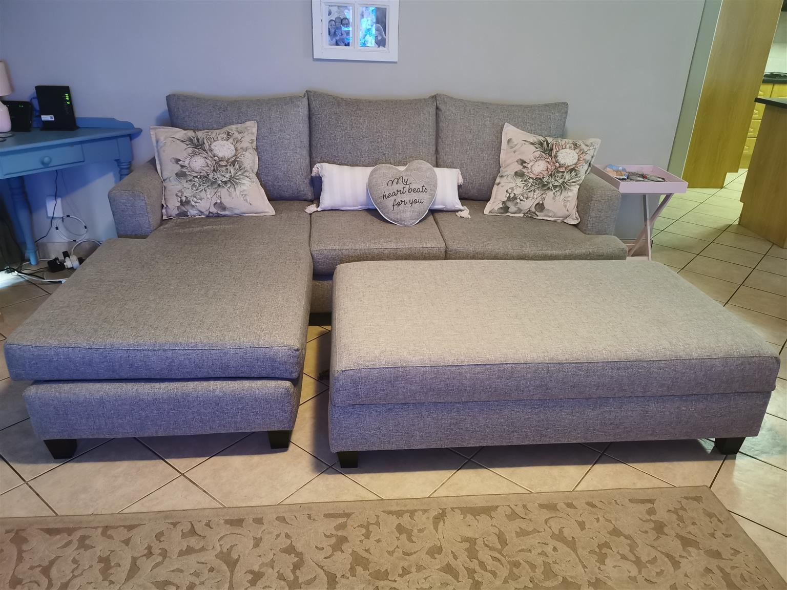 L Shaped Couch Ottoman