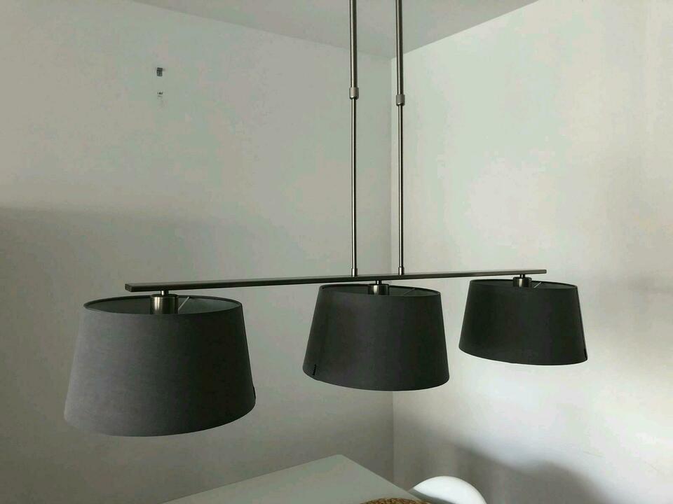 Lampe Grau Stoff