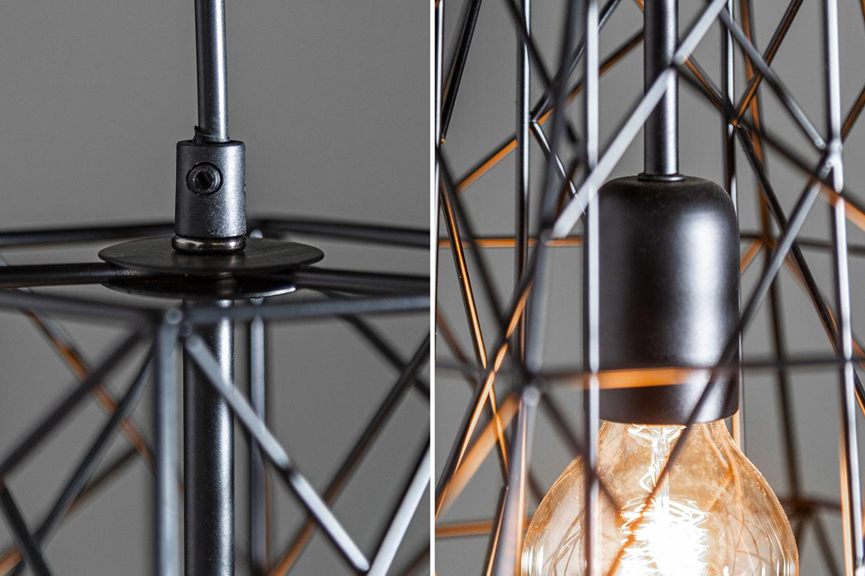 Lampe Industrial Schwarz